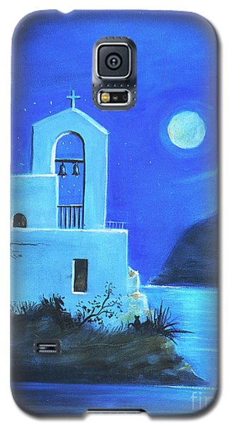 Galaxy S5 Case featuring the painting Little Church By The Sea by S G