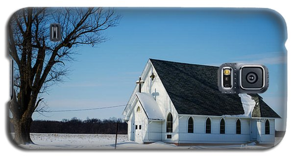 Little Church On The Prairie Galaxy S5 Case by Luther Fine Art