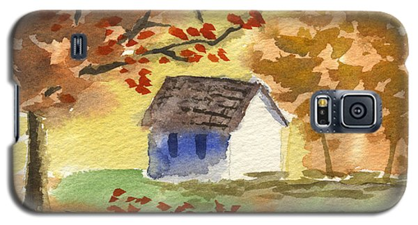 Little Cottage In Autumn Galaxy S5 Case