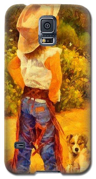 Little Cowgirl Galaxy S5 Case