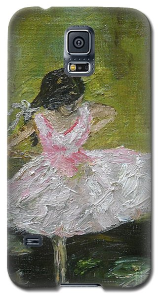 Galaxy S5 Case featuring the painting Little Dansarina by Reina Resto