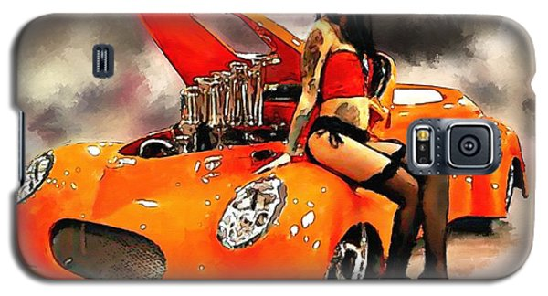 Galaxy S5 Case featuring the painting Little Deuce Coupe by Robert Smith