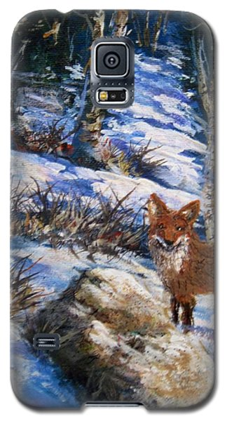 Galaxy S5 Case featuring the painting Little Fox by Megan Walsh