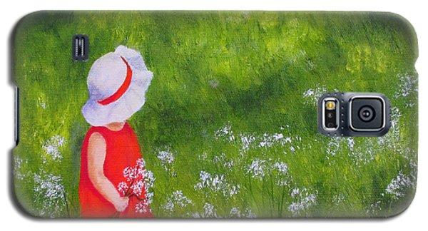 Girl In Meadow Galaxy S5 Case