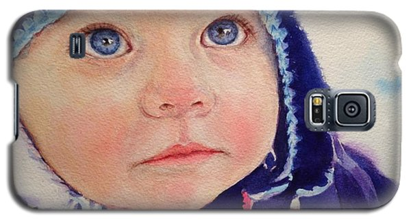 Little Girl In Snow Galaxy S5 Case