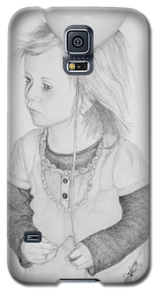 Little Girl With Balloon Galaxy S5 Case