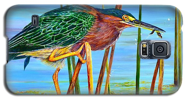 Little Green Heron Galaxy S5 Case by AnnaJo Vahle