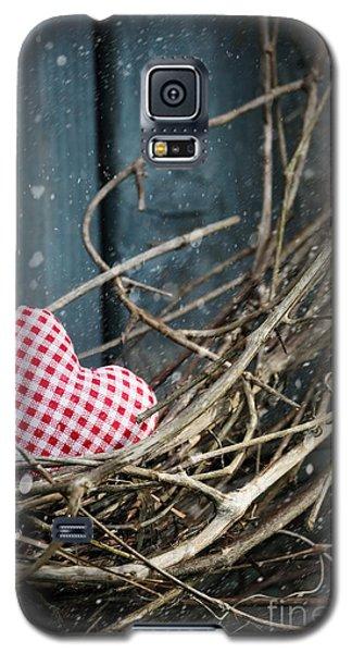 Little Heart On Christmas Wreath Galaxy S5 Case