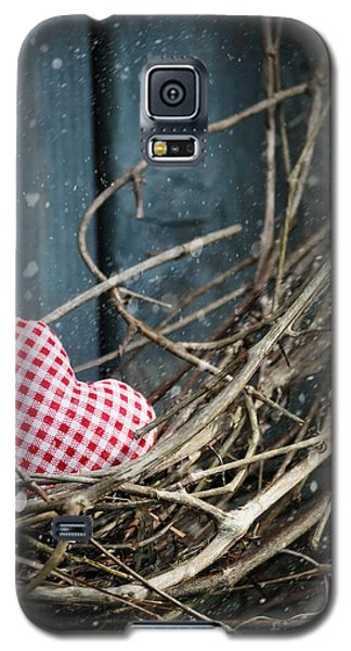 Little Heart On Christmas Wreath Galaxy S5 Case
