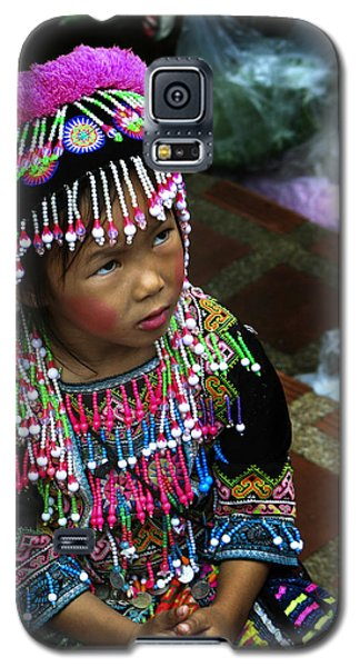 Galaxy S5 Case featuring the photograph Little Hill Tribe Girl by Rob Tullis