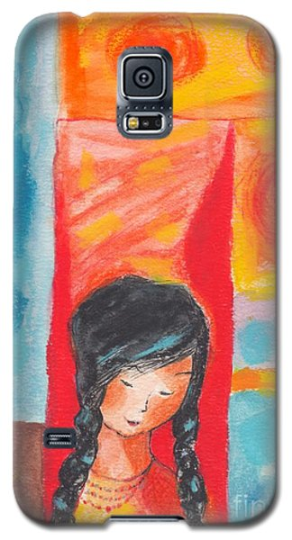 Little Indian Girl  Galaxy S5 Case by Mary Armstrong