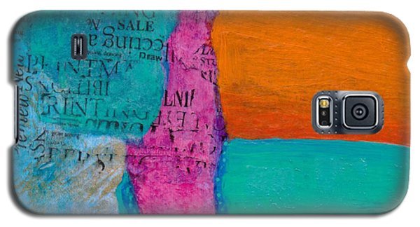 Galaxy S5 Case featuring the mixed media Little Landscape by Catherine Redmayne