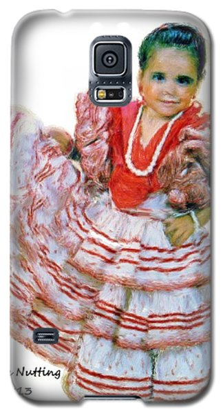 Galaxy S5 Case featuring the painting Little Lidia by Bruce Nutting