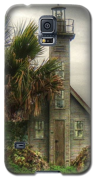 Galaxy S5 Case featuring the photograph Little Lost Lighthouse by Myrna Bradshaw