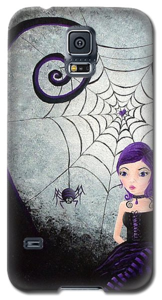 Galaxy S5 Case featuring the painting Little Miss Muffet by Oddball Art Co by Lizzy Love