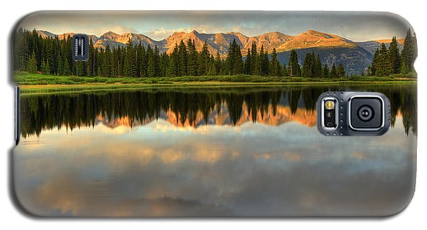 Galaxy S5 Case featuring the photograph Little Molas Lake At Sunset by Alan Vance Ley