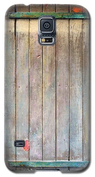 Galaxy S5 Case featuring the sculpture Little Painted Gate In Summer Colors  by Asha Carolyn Young