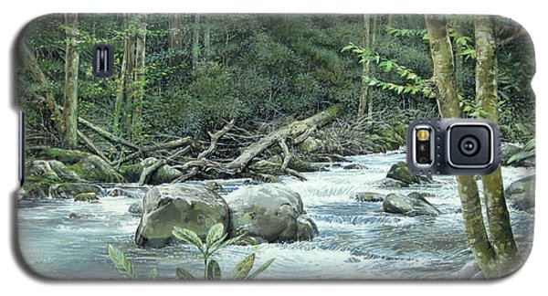 Galaxy S5 Case featuring the painting Little Pigeon River by Bob  George