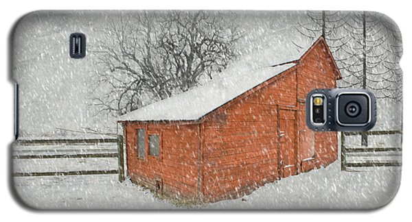 Little Red Barn Galaxy S5 Case