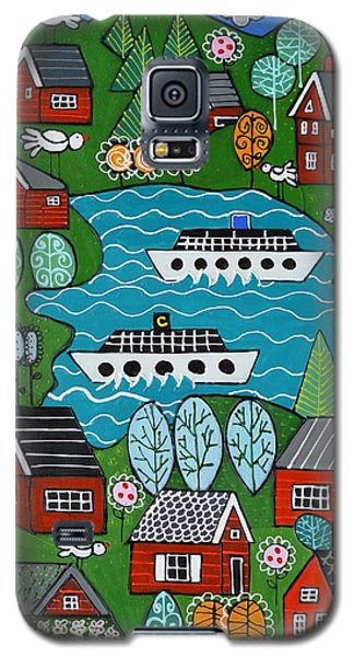 Little Red Norwegian Houses Galaxy S5 Case