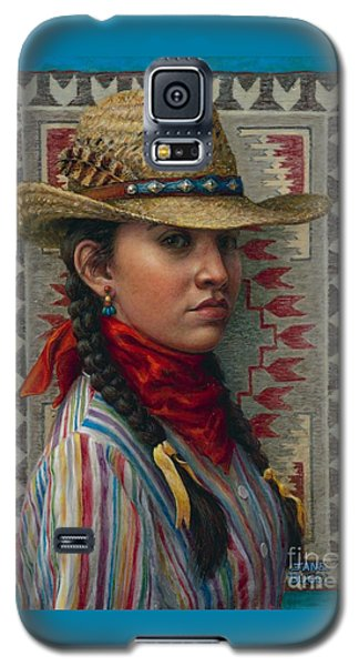 Galaxy S5 Case featuring the painting Little Rising Hawk by Jane Bucci