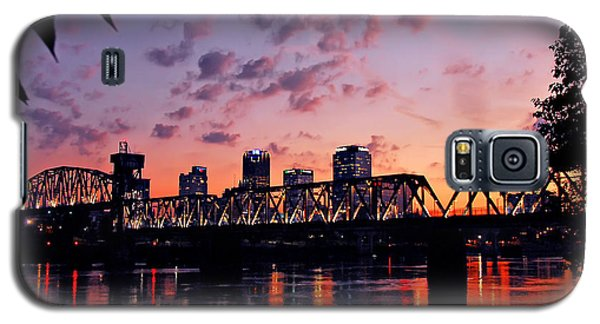 Little Rock Bridge Sunset Galaxy S5 Case by Mitchell R Grosky