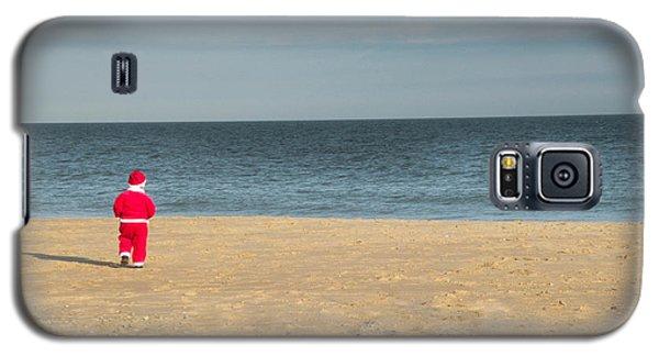 Little Santa On The Beach Galaxy S5 Case