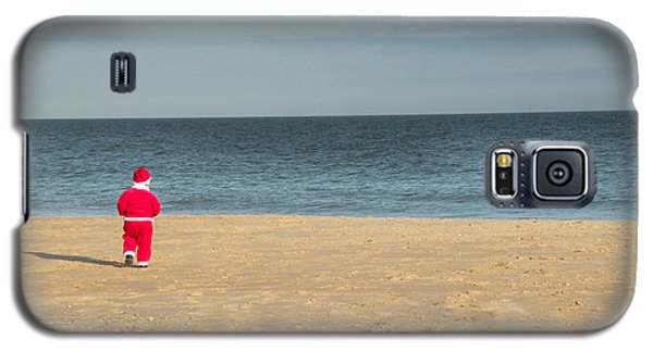 Little Santa On The Beach Galaxy S5 Case