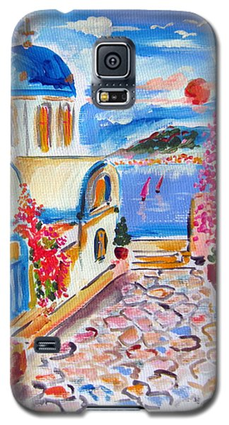 Little Santorini Alley Galaxy S5 Case by Roberto Gagliardi