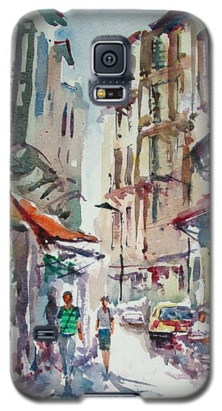 Galaxy S5 Case featuring the painting Little Trip At Exotic Streets In Istanbul by Faruk Koksal