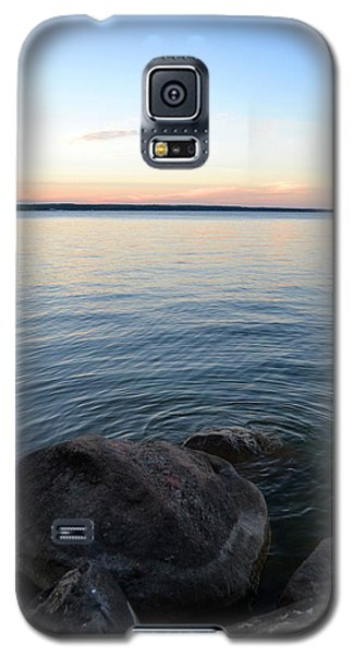 Galaxy S5 Case featuring the digital art Little Waves On The Water 2  by Lyle Crump