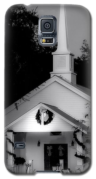 Little White Church Bw Galaxy S5 Case