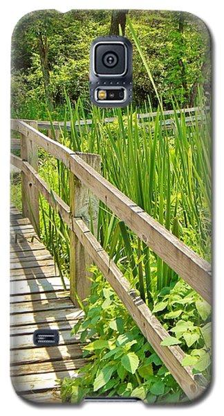 Little Wooden Walking Bridge Galaxy S5 Case by Jean Goodwin Brooks