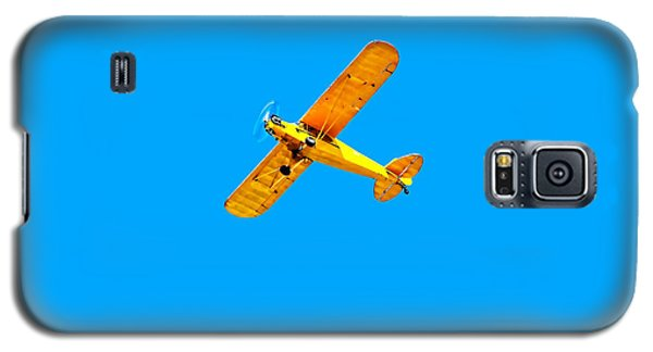 Galaxy S5 Case featuring the photograph Little Yellow Flyer Plane by Tracie Kaska
