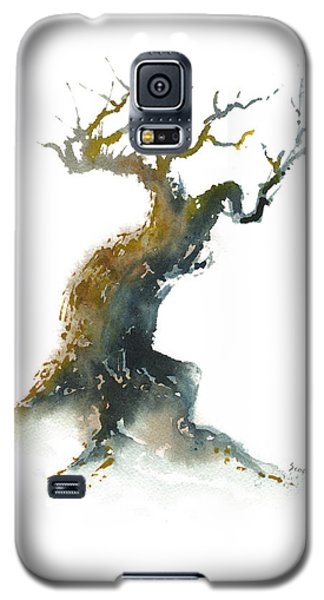 Galaxy S5 Case featuring the painting Little Zen Tree 1582 by Sean Seal