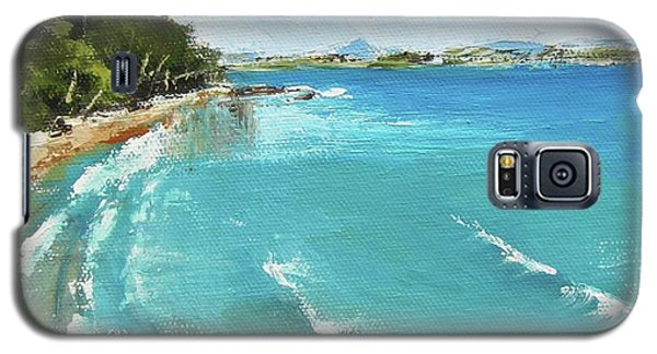 Galaxy S5 Case featuring the painting Litttle Cove Beach Noosa Heads Queensland Australia by Chris Hobel