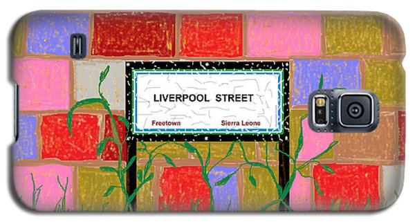 Galaxy S5 Case featuring the digital art Liverpool Street - Freetown by Mudiama Kammoh