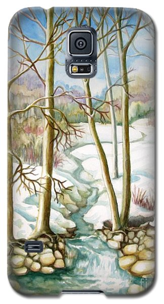 Galaxy S5 Case featuring the painting Living Creek by Inese Poga