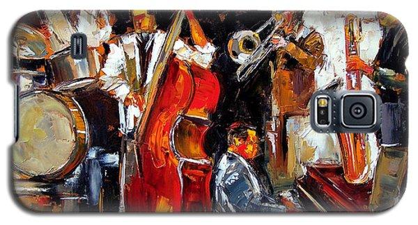 Trombone Galaxy S5 Case - Living Jazz by Debra Hurd