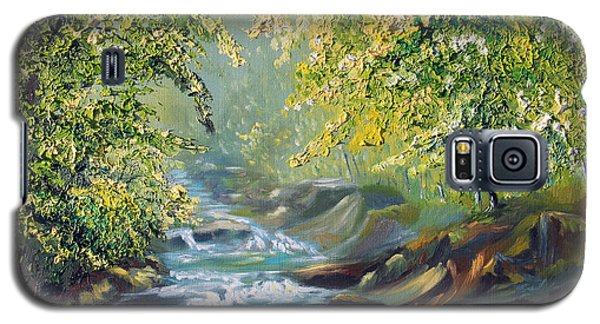 Galaxy S5 Case featuring the painting Living Water by Meaghan Troup