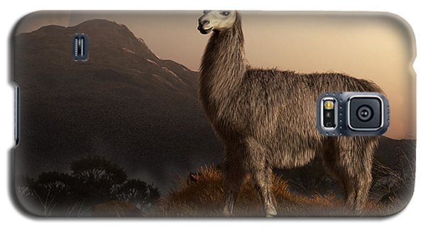Llama Dawn Galaxy S5 Case by Daniel Eskridge
