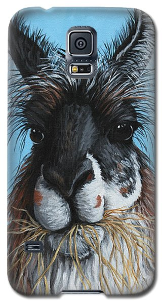 Galaxy S5 Case featuring the painting Llama Portrait by Penny Birch-Williams