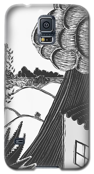 Galaxy S5 Case featuring the drawing Lluvia by Aurora Levins Morales
