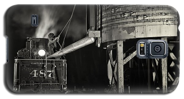 Loading Water At Chama Train Station Galaxy S5 Case by Priscilla Burgers