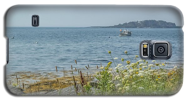 Galaxy S5 Case featuring the photograph Lobster Boat At Rest by Jane Luxton
