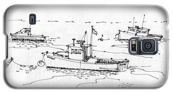 Lobster Boats Monhegan Island 1993 Galaxy S5 Case
