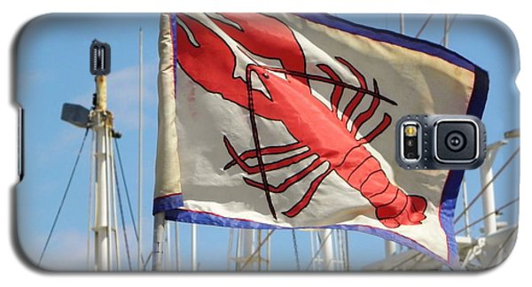 Lobster Flag At The Point Galaxy S5 Case by Mary Carol Williams