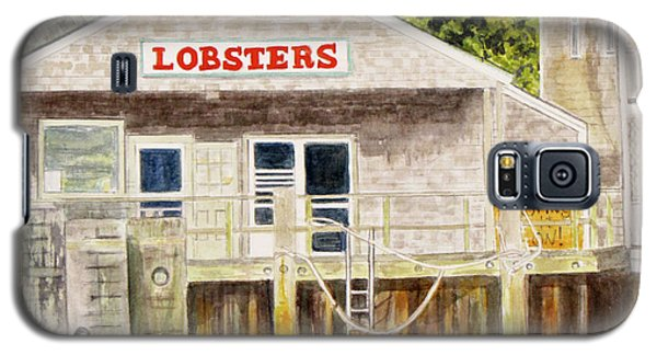 Galaxy S5 Case featuring the painting Lobster Shack by Carol Flagg
