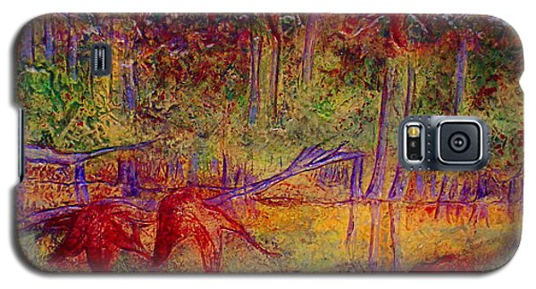 Galaxy S5 Case featuring the painting Local Color by D Renee Wilson