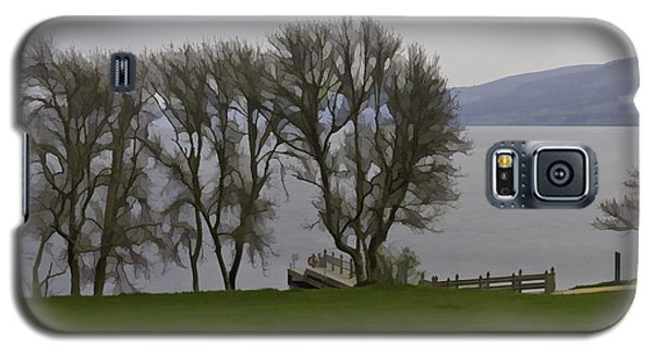 Loch Ness And Boat Jetty Next To Urquhart Castle Galaxy S5 Case by Ashish Agarwal